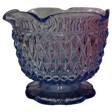 Indiana Glass Diamond Point Ice Blue Glass Dish