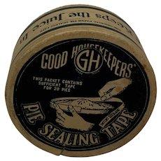 Vintage 40s Good Housekeepers' The Original Pie Sealing Tape in Original Box.