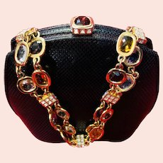 Judith Leiber Bejeweled Chain-Handle Party Purse ~ Mint Condition