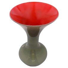 Vintage Trumpet Form MURANO Glass Vase by Vincenzo Nason