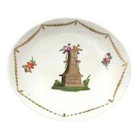 Antique German WALLENDORF Dish Hand Painted Porcelain