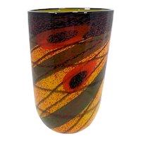 Romanian Artist IOAN NEMTOI Vintage Art Glass Vase