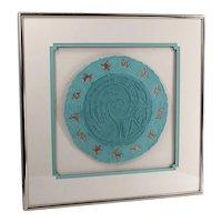 Vintage Paper Art By NANCY J. YOUNG - Anasazi Circle Dance Motif