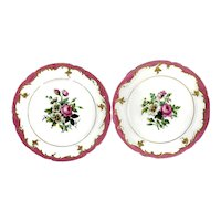 OLD PARIS PORCELAIN Plates by L. Rihouet - Antiques from the 1820s