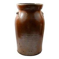 Antique Southern Pottery - Alkaline Glazed Stoneware Jar