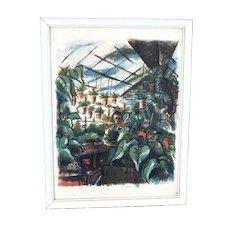 LEONARD PYTLAK Original Serigraph - Title: Greenhouse