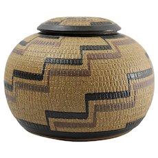 KENNETH ALLEN Art Pottery Lidded Bowl - 1982