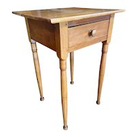 Mid 19th Century Maple One Drawer Nightstand