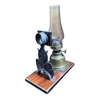Antique Child's Brass Oil Lamp
