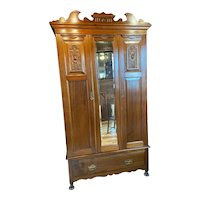 Antique French Mahogany Armoire