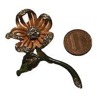 Vintage Nolan Miller Enamel Flower Brooch