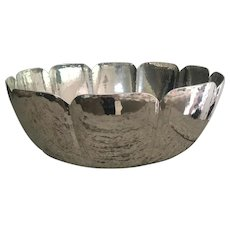 Vintage CARTIER Hammered Pewter Centerpiece Bowl