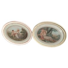 Pair Antique Angelica Kauffman / Thomas Burke Framed Mythological Engravings