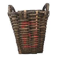 Antique French Wine Harvest / Orchard Basket