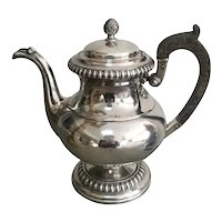 19th Century English Old Sheffield Silver Plate Footed Coffee Pot