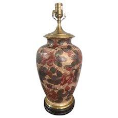Vintage Wildwood Asian Crackleware Ginger Jar Lamp ~ Signed E. Taniguchi