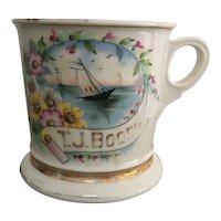 Antique KOKEN ~ St. Louis Decorative Occupational SAILBOATS Shaving Mug