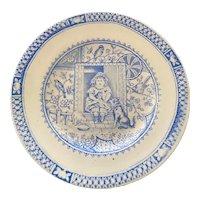 Antique Staffordshire Transferware Little Mae Nursery Rhyme Plate