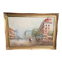 Caroline Burnett (1877-1950) Oil on Canvas Paris Street Scene