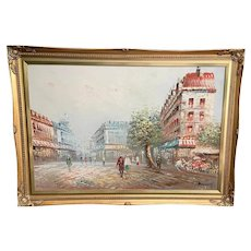 Mid-Century Impressionist Oil on Canvas - Paris Street Scene Caroline Burnett (1877-1950)