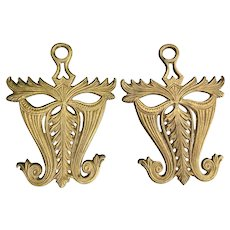 Vintage Decorative Brass Trivets by Virginia Metalcrafters ~ a Pair