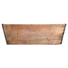 Early 20th Century UNIFRUIT Beatrice NEBRASKA Wooden BANANA Crate