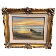 Vintage California Coastal Beach Seascape O/C by William Blackman