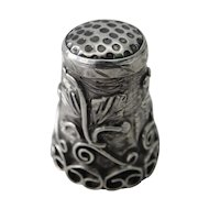 Vintage Taxco Mexico EDH Sterling Thimble