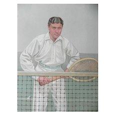 Original 1904 Vanity Fair / SPY Print ~ Tennis ~ Thrice Champion ~ H.L. Doherty