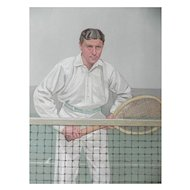 Original 1904 Vanity Fair Tennis Print Thrice Champion ~ H.L. Doherty