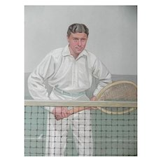 Original 1904 Vanity Fair Tennis Print Thrice Champion ~ H.L. Doherty