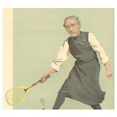 Original 1912 Vanity Fair Tennis Print~ Dr. Ingram , The Bishop of London