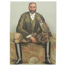 1897 Vanity Fair Print ~ Falconry  /  Game Hunter ~ Gerald Lascelles