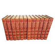 Set of Antique Leather Bound Books ~ The Novels of JANE AUSTEN - Winchester Edition 1911-1912