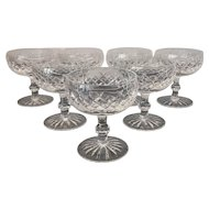 Set Vintage Waterford Boyne Cut Crystal Champagnes /  Tall Sherbets