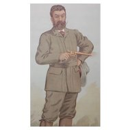 1893 Original Vanity Fair Game Hunter Print ~ Walter Winans