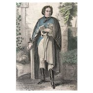 19th Century French Hand Colored Engraving ~ Charles de Bonchamps