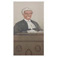 1902 Original Vanity Fair Legal / Judge Print of the Honourable Sir Joseph Walton