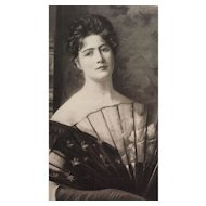 19C Victorian Lady in Black Photogravure Print by F.W. Freer