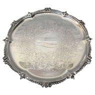 Fine Ellis Barker Silver Plate Salver / Small Tray