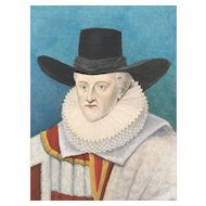 19th Century Hand Colored Steel Engraving - Lord Chancellor Ellesmere