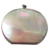 Vintage Mother of Pearl Accordion Coin Purse