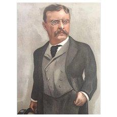 Original 1902 Vanity Fair Print ~ Theodore TEDDY Roosevelt ~ President of the United States