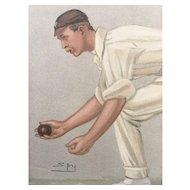 Original  1902 Vanity Fair CRICKET Print ~ Digby Loder Jephson ~ The Lobster