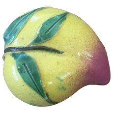 Antique Chinese Export Temple Altar Fruit - Peach