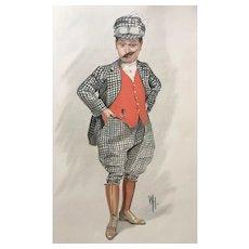 Original Vanity Fair Theatre / Actor Print - HARRY TATE - The King's Jester