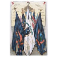 19th Century FAMOUS UNION BATTLE FLAGS Chromolithograph Print