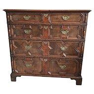 18th Century William & Mary Style Veneered Walnut Chest of Drawers