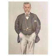 Original 1895 Vanity Fair Print ~ Caledonian Railway ~ Mr. James Thompson