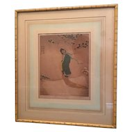 1929 Dorsey Potter Tyson SNOW MAIDEN Signed Colored Etching